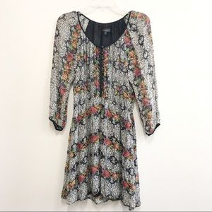Sanctuary Floral Print Buttoned Dress Sz S